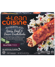 LEAN CUISINE MARKETPLACE Spicy Beef & Bean Enchilada 9.625 oz...
