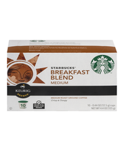 Starbucks® Breakfast Blend Medium Roast Ground Coffee K-Cup® ...