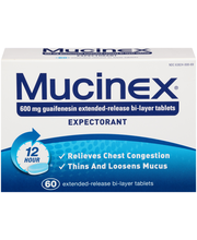 Mucinex® 12 Hour® Extended-Release Bi-Layer Expectorant Table...