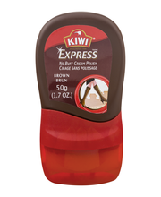 KIWI® Express™ No Buff Cream Shoe Polish Brown 1.7 oz. Bottle