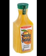 Simply Orange® Original Pulp Free Orange Juice 1.75L Plastic ...