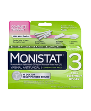 Monistat 3 Vaginal Antifungal 3-Day Treatment Ovules Complete...