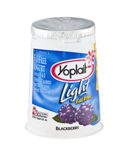 Yoplait® Light Blackberry Fat Free Yogurt 6 oz. Cup