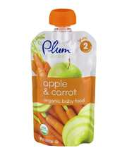 Plum® Organics Stage 2 Apple & Carrot Baby Food 4 oz. Pouch
