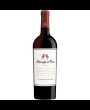 Menage a Trois California Red Wine 750mL Bottle
