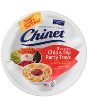 Chinet® Classic White™ Chip & Dip Plastic Party Trays 2 ct. Pack