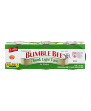 Bumble Bee® Chunk Light Tuna in Water 3-3 oz. Pack Sleeve