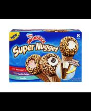 NESTLE DRUMSTICK Super Nugget Strawberry/Vanilla Fudge/Vanill...