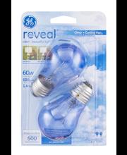 GE Reveal Clear Decorative Bulbs 60 Watt - 2 CT