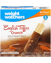 Weight Watchers English Toffee Crunch Ice Cream Bars 12-1.6 f...