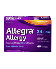 Allegra Allergy Non Drowsy Indoor and Outdoor Allergy Tablets...