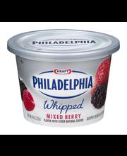 Philadelphia Whipped Mixed Berry Cream Cheese Spread 7.5 oz. Tub