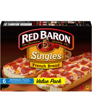 Red Baron® Singles French Bread Pepperoni Pizzas 6 ct Box