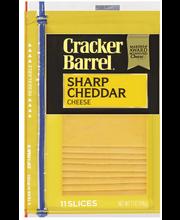 Cracker Barrel Sharp Cheddar Cheese Slices 12 ct ZIP-PAK®