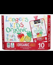 Langers Orgnc Fruit Punch Pouc