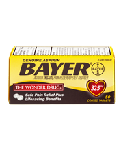 Bayer® Aspirin Pain Reliever/Fever Reducer 325mg Coated Table...