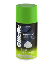 Gillette® Foamy® Lemon Lime Shave Foam 11 oz. Aerosol Can