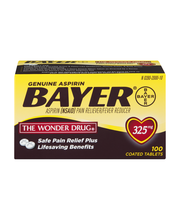 Bayer® Genuine Aspirin 325mg Pain Reliever/Fever Reducer Coat...