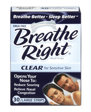 Breathe Right® Clear Large Nasal Strips 30 ct Box