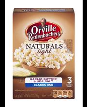 Orville Redenbacher's® Gourmet® Naturals Garlic Butter & Sea ...