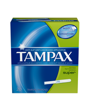 Tampax Cardboard Super Tampons, Unscented, 20 count