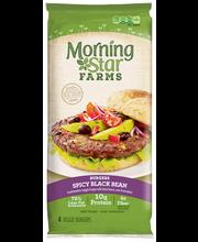 MorningStar Farms® Spicy Black Bean Burger 4 ct Pack