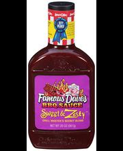 Famous Dave's® Sweet & Zesty™ BBQ Sauce 20 oz. Plastic Bottle