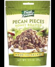 Fresh Gourmet Honey Roasted Pecan Pieces 3.5 Oz Peg