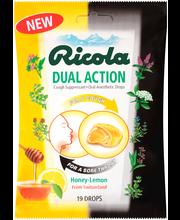 Ricola Dual Action Honey-Lemon Cough Suppressant Oral Anesthe...
