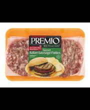 Premio Italian Sausage Patties Sweet
