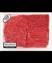 Beef Thin Sliced Bottom Round Boneless Steak Tray