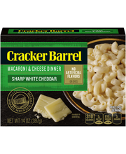 Cracker Barrel Sharp White Cheddar Macaroni & Cheese Dinner 1...