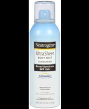 Neutrogena® Ultra Sheer Body Mist Sunscreen Broad Spectrum SP...