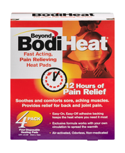 Beyond BodiHeat Disposable Heating Pads - 4 CT