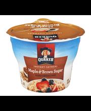 Quaker® Maple & Brown Sugar Instant Oatmeal 1.69 oz. Cup