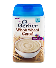 Gerber Whole Wheat Baby Cereal, 8 oz