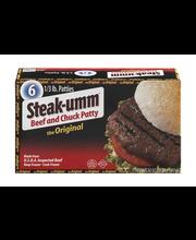 Steak-Umm Beef and Chuck Patty Original - 6 CT
