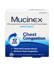 Mucinex® Extended-Release Bi-Layer Tablets Expectorant 20 ct Box