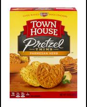 Town House® Flip Sides Parmesan Herb Pretzel Thins 10 oz. Box