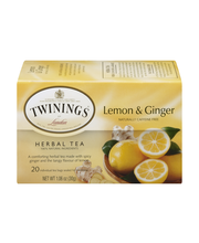 Twinings® of London Lemon & Ginger Herbal Tea 1.06 oz. Box