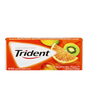 Trident Tropical Twist Sugar Free Gum with Xylitol 18 Stick Pack