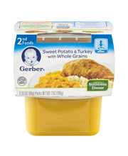 Gerber® 2nd Foods® Sweet Potato & Turkey with Whole Grains Nu...