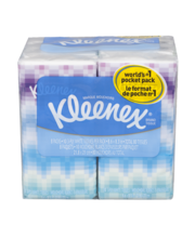 KLEENEX Pocket Pack Facial Tissue 8-Pack 10