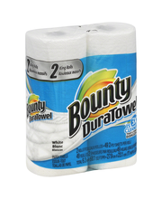 Bounty DuraTowel White Paper Towels 2 ct Pack