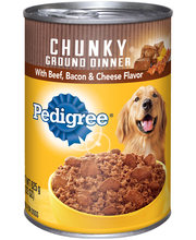 Pedigree® Meaty Ground Dinner with Chunky Beef, Bacon & Chees...