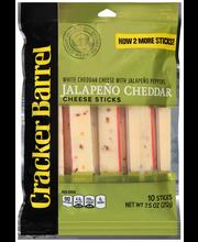Cracker Barrel Jalapeno Cheddar Cheese Sticks 10 ct Bag