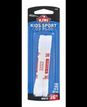 Kiwi 36'' Kids Sport Laces Flat White - 1 CT