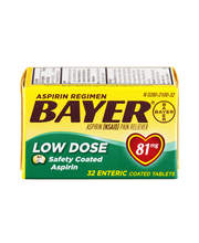 Bayer® Low Dose Safety Coated Aspirin 81mg Tablets 32 ct Box