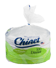 "Chinet® Classic White™ 10.38"" Dinner Plates 100 ct Pack"