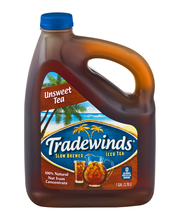 TRADEWINDS SLOW BREWED ICED TEA, Unsweet Tea 1-gallon plastic...
